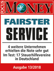 "Focus-Money-Test Siegel ""sehr gut"" Fairster Service"
