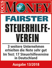 "Focus-Money-Test Siegel ""sehr gut"" Fairster Steuerhilfeverein"